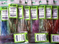 Flashabou Minnow, Fly Tying Tinsel Flash Set of 11x mixed colors