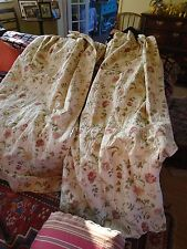 Large floral upholstery weight door curtain 200cms long and 240 width at bottom