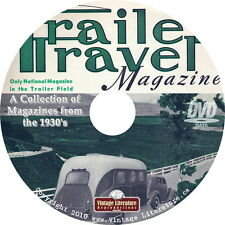 Travel Trailer { RV and Camping } Magazines of the 1930's on DVD