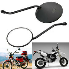 """4"""" Round Rearview Side Mirrors Universal For Motorcycle Scooter ATV 10mm Thread"""