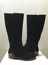 UGG CHANNING BLACK SUEDE LEATHER RIDER BOOTS US 9.5 / EU 40.5 / UK 8 - NIB