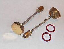 "2 x 1 1/2"" H4 SU Carburettor HEX Hd Brass Piston Damper & Gasket for 50-60s cars"