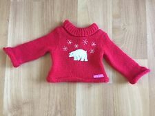 American Girl red polar bear sweater snowflakes holiday Christmas 18 in dolls