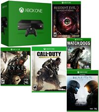 Microsoft Certified Xbox One 1TB Gaming Console MATTE BLACK - 5 GAME BUNDLE