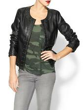 NEW Sabine Women's BLACK- Medium-Studded Vegan Leather Jacket