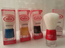 Omega Shaving Brush # 90018 Syntex 100% Synthetic Multicolored