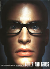 2000 CUTLER AND CROSS EYEWEAR FASHION MAGAZINE PRINT AD