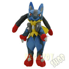 "10"" New Pokemon XY Mega Lucario Evolution Riolu Soft Plush Doll Stuffed Toy"