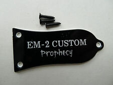 Genuine Epiphone LP EM-2 Custom Prophecy  Guitar Truss Rod Cover Black