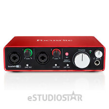 Focusrite Scarlett 2i2 2nd Gen USB 2.0 Audio Recording Interface w/Protools