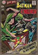 BRAVE AND THE BOLD #80 DC 10/68 BATMAN EARLY APP THE CREEPER NEAL ADAMS ART FN+