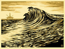 """Water is the New Black Silk Screen Print Shepard Fairey Signed 18"""" x 24"""" OBEY"""