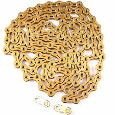 ~KMC X11SL gold 116 Link 11 Speed bike chain with missing link