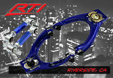 Civic Front Upper Control Arms w/Camber + Rear Camber Bar Kit Blue EK EM1 2/3/4