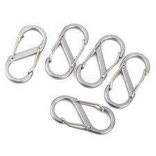 lot 5x Mini Metal Hanging Buckles Carabiner Clip Snap Hook Keychain Keyrings