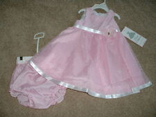 Rare Editions Pink Dress Set Boutique Baby Girls Size 24 Months 24M NWT NEW Cute