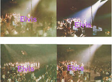 ELVIS PRESLEY WITH BAND & AUDIENCE CONCERT JUNE 1977 SET 4 PHOTOS LOT CANDID A