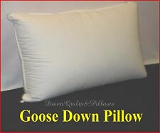 1 STANDARD PILLOW - 95% GOOSE DOWN & GOOSE FEATHERS - 100% COTTON CASING