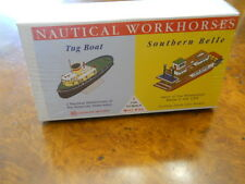 GLENCOE #3302 NAUTICAL WORKHORSES, TUG BOAT & SOUTHERN BELL RIVERBOAT NEW IN BOX