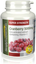 SimplySupplements Cranberry 5000mg 120 Tablets (E557)