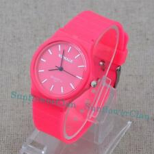 Fashion Sweet Candy Colours Jelly Plastic Women Students Quartz Wrist Watch Gift