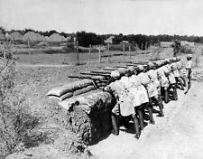 Photo. ca 1934. India. Sikhs Learning Musketry