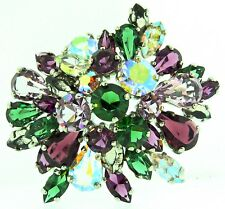Vtg 1958 Henkel & Grosse CHRISTIAN DIOR Domed AB Rhinestone Brooch Pin