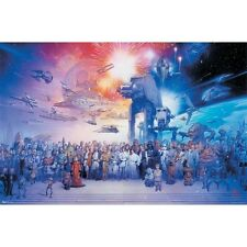 "NEW - Star Wars Movie The Galaxy Art Poster Print 24"" x 36"""