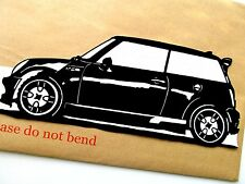 "MINI COOPER Car,Original Pop Art,Reusable Vinyl Decal  Sticker 11""X 4½"" inches."