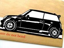 """MINI COOPER Car,Original Pop Art,Reusable Vinyl Decal  Sticker 11""""X 4½"""" inches."""