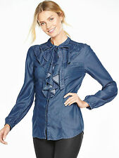 V by Very Denim Ruffle Shirt  V by Very Denim Ruffle Shirt uk 8 bnwt