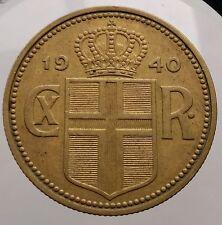 1940 Iceland 2 Kronur KM# 4.2 Christian X Coin