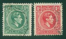 [JSC]1939 Jamaica King George VI British Colony Old Stamps