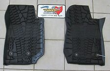 14-16 Jeep Wrangler JK RHD All Weather Black Front Rubber Slush Floor Mats Mopar