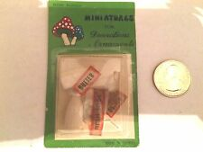 1/12 MINIATURE MILK BOTTLES BUTTER AND EGGS WITH LOOSE LABELS ORIGINAL PACKAGE