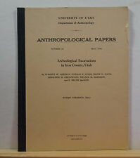 Archaeological Excavations in Iron County, Utah 1956 Anderson Robinson Silo UT