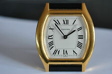 Original  CARTIER Desk Alarm Clock Gold Filed (ref:3/048)