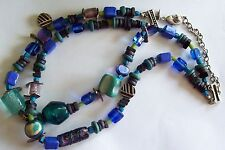 CHICO'S Colorful Blue & Green Chunky Necklace