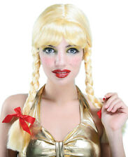 Zopfperücke Blondi Blond für Damen NEU - Karneval Fasching Perücke Haare