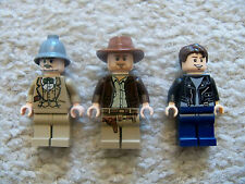 LEGO Indiana Jones - Rare - Indiana , Mutt Williams & Henry Jones Sr - Excellent