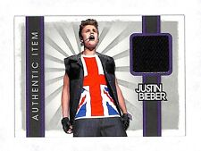2012 Panini Justin Bieber authentic worn shirt relic card Musician