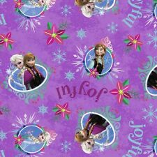 Fat Quarter Disney Frozen Anna and Elsa Christmas 100% Cotton Quilting Fabric