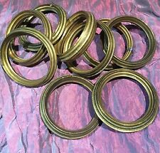 9 Large Old French Brass Curtain Rings