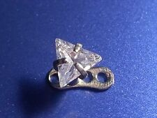 1 TRIANGLE CZ GEM MICRO DERMAL ANCHOR TOP 14G 3 PRONG 4MM
