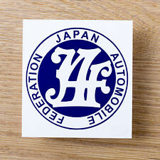 JAF japan automobile federation Sticker Decal Datsun KB110 510 D21 Toyota Honda