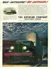 1946  Truck AD, AUTOCAR Heavy Duty Trucks, Shirks Motor Express nice art  061714