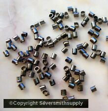Black plated copper 2x1mm small tube crimp beads 100 fps038