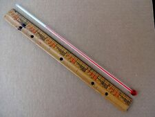 ONE 12 INCH GLASS REPLACEMENT THERMOMETER  TUBE FOR ADVERTISING THERMOMETERS