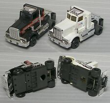 2 TYCO Slot Car Tractor Truck Push BODY GoodWrench & K-Mart Broken Stack On Each