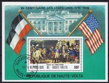 Geschichte History USA Prise of Yorktown Burkina Faso Block 34, 1975
